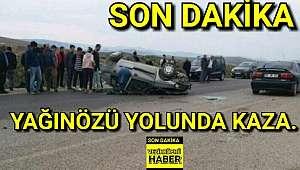 Son Dakika. Yağınözü yolunda kaza.